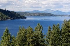Meer Coeur D ` Alene, Idaho royalty-vrije stock foto's