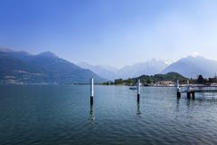 Meer Como, Italië stock afbeelding