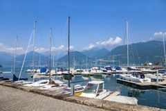Meer Como, Italië stock fotografie
