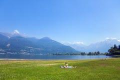 Meer Como, Italië stock foto's