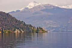 Meer Como Italië stock foto