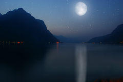 Meer Como, Italië Stock Foto