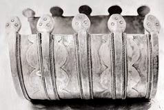 Meer dan 100 jaar oude antieke Turkse armband Royalty-vrije Stock Fotografie