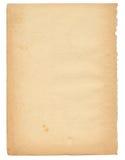 Meer dan 50 jaar oude document pagina Royalty-vrije Stock Fotografie