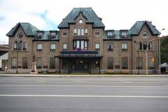 Meer dan 100 jaar de oude bouw in St. John Newfoundland. Stock Fotografie