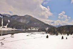 Meer in de Alpen Stock Afbeeldingen
