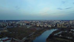 Meer in de luchtmening van Moskou Rusland stock video
