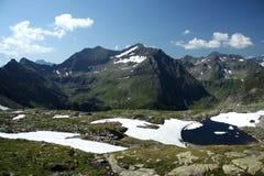 Meer in de Oostenrijkse Alpen royalty-vrije stock afbeelding