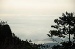 Meer des Nebels Lizenzfreie Stockfotografie