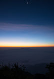 Meer des Nebels bei Doi Laung Chiang Dao - Chiangmai Thailand Lizenzfreies Stockbild