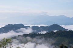 Meer des Nebels am Mönch Poonsuda Lizenzfreie Stockbilder