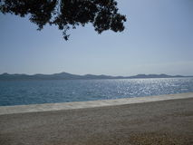 Meer durch Zadar Kroatia Stockbilder