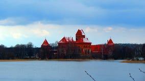 Meer Galve en Trakai-Kasteel, Litouwen royalty-vrije stock afbeelding