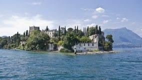 Meer Garda - Isola Di Garda Royalty-vrije Stock Foto