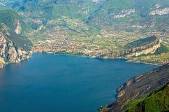 Meer Garda, Riva del Garda stock fotografie