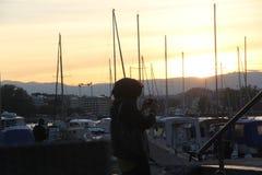 Meer Genève in Genève, Zwitserland Stock Afbeelding