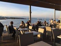 Meer Genève in Genève, Zwitserland Stock Foto's