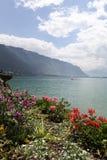 Meer Genève. Montreux. stock foto's