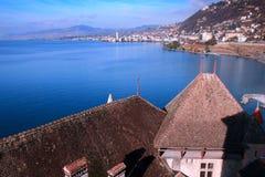 Meer Genève, Zwitserland royalty-vrije stock foto's
