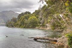 Meer Gutierrez dichtbij Bariloche, Argentinië Stock Afbeelding