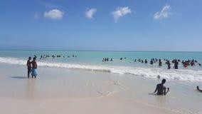 Meer in Haiti stockbild
