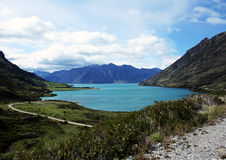 Meer Hawea, Nieuw Zeeland Stock Foto's
