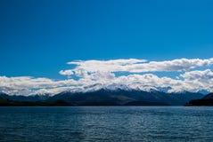 Meer Hawea, Otago, Nieuw Zeeland Stock Foto