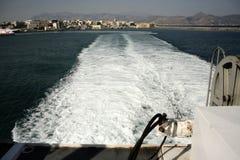 In Meer heraus segeln stockfotos