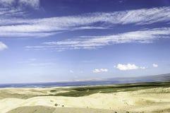 Meer in het zand Royalty-vrije Stock Foto
