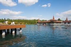 Meer Heviz, het meer van het wolrd 2de grootste natuurlijke warme water binnen Royalty-vrije Stock Afbeeldingen