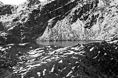 Meer in Himalayagebergte Stock Foto's
