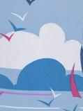 Meer, Himmel und Vögel. Lizenzfreies Stockfoto