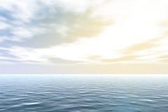 Meer, Himmel, Wolken und Sonne Stockfotografie