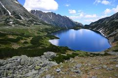 Meer in Hoge Tatras Royalty-vrije Stock Foto's