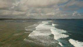 Meer im stürmischen Wetter stock footage