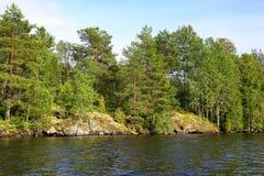 Meer in Karelië Royalty-vrije Stock Afbeeldingen