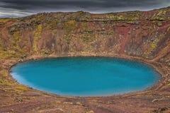 Meer Kerid Zuidelijk IJsland Royalty-vrije Stock Fotografie