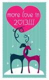 Meer liefde in 2013 stock illustratie