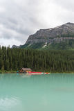 Meer Loiuse Alberta Canada Stock Foto