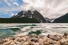 Meer Louise, het Nationale Park van Banff, Alberta, Canada Royalty-vrije Stock Foto