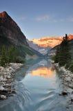 Meer Louise, Nationaal Park Banff Royalty-vrije Stock Afbeeldingen