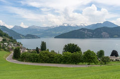 Meer Lucern in Zwitserland Stock Foto's