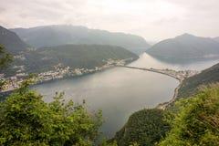 Meer Lugano royalty-vrije stock foto's