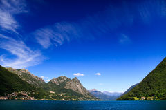 Meer Lugano stock foto
