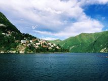 Meer Lugano Royalty-vrije Stock Afbeeldingen