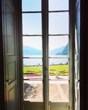 Meer Lugano van Villa Ciani royalty-vrije stock fotografie