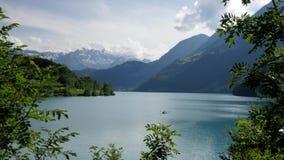 Meer in Lungern, Zwitserland stock videobeelden