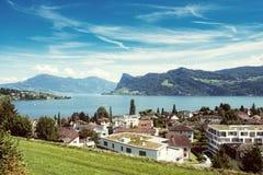Meer Luzerne Hergiswil Royalty-vrije Stock Fotografie