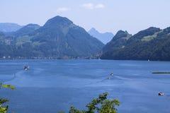 Meer Luzerne, Zwitserland stock fotografie