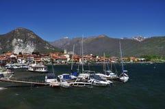 Meer Maggiore, Italië. Feriolo, Baveno stock afbeeldingen